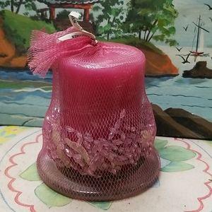 Pier 1 candle citrus blossom scent w/glass coaster